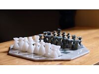 Ceramic chess set from Morocco