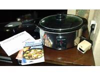 Slow cooker and steamer £10 & £15 each.