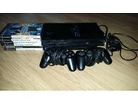 Playstation 2 Console with 6 Games and Controller
