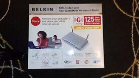 Belkin ADSL Modem with High-Speed Mode Wireless G Router