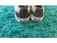 Boys grey vans size 13 good used condition