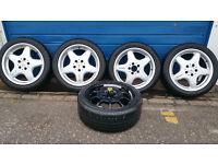 Mercedes AMG Genuine 17 + 5 x tyres DUNLOP 225 45 17 / 245 40 17