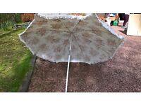 vintage retro floral parasol