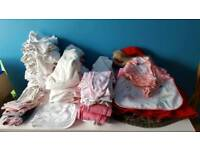 bundle of baby girl cloth from newborn over 80 cloths