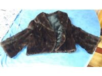 Fur jacket, Mink, hand crafted, size 12-14