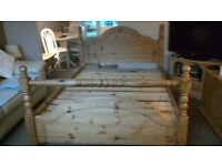 Solid Pine Double bed frame for sale