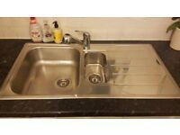 Rangemaster Michigan 950*508 1.5 Bowl Brushed Stainless Steel Kitchen Sink