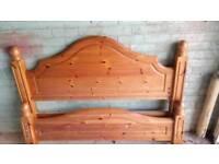 Pine bed headboard double