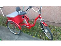 Jorvik 24'' Vintage Dutch Style Electric Bike Adults Tricycle 36V 10Ah £1400 New*Disabled Trike