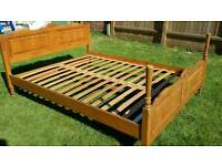 King wooden bed