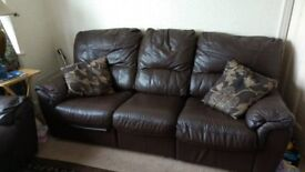 Stunning leather sofas with recliners