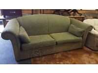 2 & 3 seater Fabric Green Sofas