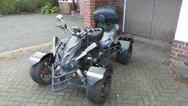 Road legal Quad bike. Only 14 months old. Automatic - Rev and Go.