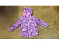 Girl 3-4 years lined coat pink flowers