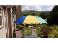 Coloured parasol/ sunshade/ umbrella