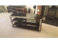 Large black glass tv stand fits tv upto 50""