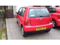 1.0 VW Lupo Red 73k miles MOT until March 2018