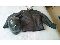 "Motorbike Helmet and Jacket ""Frank Thomas"""