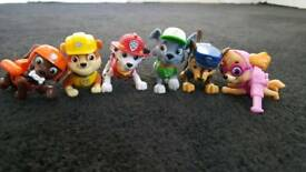 Paw patrol figurines