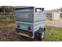 Galvanised Box Trailer 5 x 3 with spare wheels