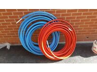 Insulated Heating/Water Pipe PEX-AL-PEX in Blue and Red