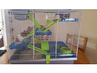 Syberian hamster complete with large 3 storey cage.