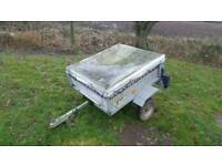 Galvinised Box trailer with cover and spare wheel