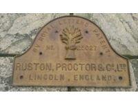 RUSTON PROCTOR LINCOLN ANTIQUE CAST IRON SIGN.
