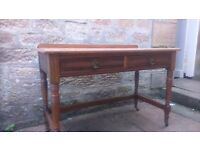 Oak Side table / sideboard, with two drawers