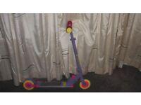 Ozbozz Purple and Pink Lightning Strike Scooter