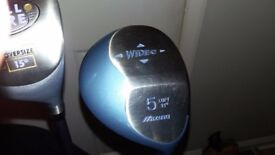 Ladies irons , woods, putter and bag