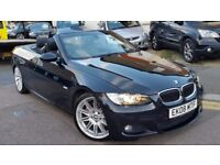 BMW 325d 3.0 DIESEL M SPORT CONVERTIBLE 2008 BMW HISTORY HEATED LEATHERS XENON NEW CLUTCH+FLYWHEEL