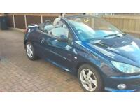 PEUGEOT 206cc COUPE CONVERTIBLE CABRIOLET WITH LOW MILEAGE AND MOT EXCELLENT CONDITION AND RUNNER