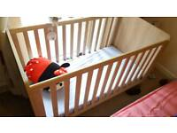 Baby's cot mama and Papas never been used with baby mobile and Mattress with two covers