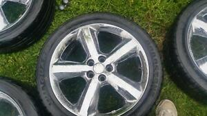 4 chrome 5x100 bolt pattern