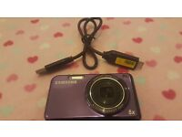 Samsung PL122 Purple Digital Camera with front lcd