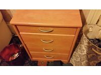 New 4 chest drawers Ikea table only £15 from smoke and pets free home.