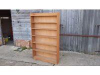 Vintage Teak Retro Stripped Bookcase Shelves