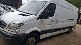 2010 Mercedes Sprinter 313 Cdi AIR-CON,LWB Van 2.1 Automatic *Spare or repair