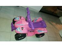 girls pink battery operated quad