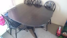 Ercol hardwood table no chairs