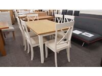 Julian Bowen Davenport Dining Table & 6 Chairs Can Deliver
