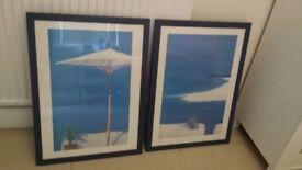 2 large framed prints