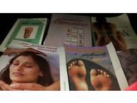 2 anatomy and physiology, Indian head massage, 2 reflexology books