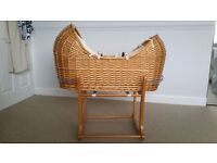 Mothercare The Snug Moses Basket & Rocking Stand in Antique