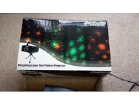 Prosound morphing laser star projector