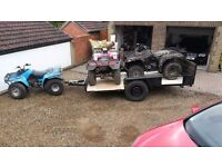 Large Car trailer for quad bikes 2.15m by 4.5m