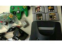 N64 Nintendo 64 Console Bundle Goldeneye Zelda Retro Quake 1 & 2 and 2 joypads