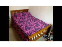 Beautiful solid wood double bed, low price for quick sale