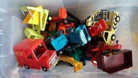 huge set of Bob the Builder and Postman Pat toys